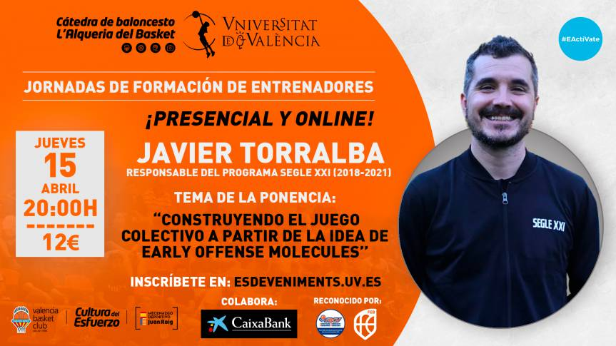 Javier Torralba, protagonist of the seventh training day of the Basketball Chair
