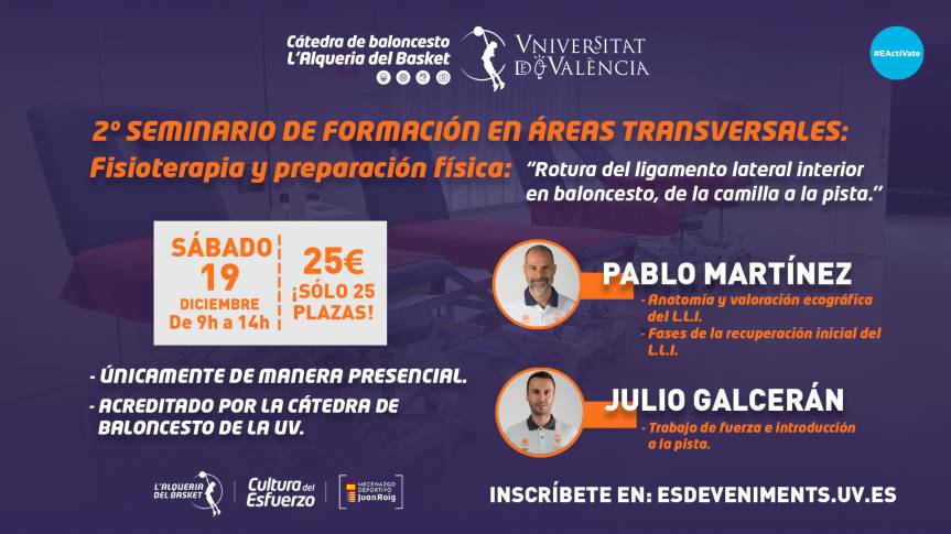 Physiotherapy and Physical Preparation, protagonists in the 2nd transversal seminar
