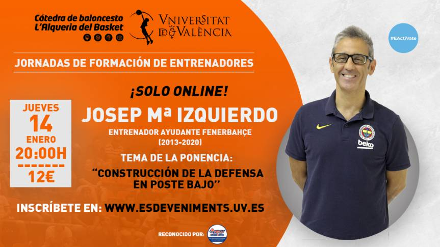 Josep María Izquierdo will star in the fourth training day of the Basketball Chair