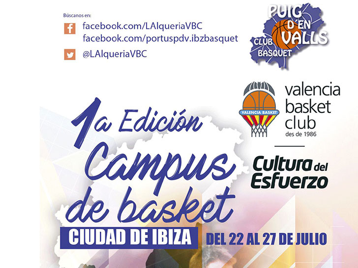 The first City of Ibiza Camp arrives with Valencia Basket and CB Puig d'en Valls